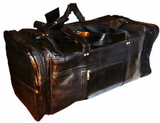 LARGE TRAVEL LEATHER DUFFLE / GYM KIT / SPORTS HOLDALL BAG BAGPACK LUGGAGE CASE