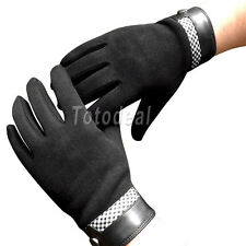 Men's Winter Warm Cool Capacitive Touch Screen Gloves Wool full finger gloves