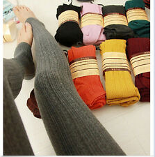 Free Womens Warm Winter Knit Footed Leggings Cotton Stockings Thicken Tights
