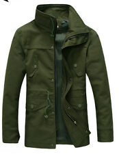 winter Men Casual cotton jacket military coat padded classic Slim Officer's Coat