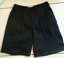 NEW Black Lady Edwards Ladies Cargo Flat Front Chino Shorts