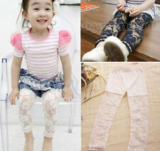 Kids Toddlers Girls Rubbery Chiffon Clothing Leggings Pants Trousers Ages 2-7Y