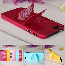 3D Cute Angel Wings Design Hard Back Case Cover with Stand For Apple iPhone 5 5s