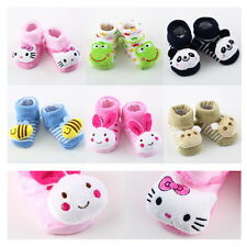 Cartoon Baby Anti-slip Socks Newborn Unisex Slipper Shoes Boots 0-6 Month  BX