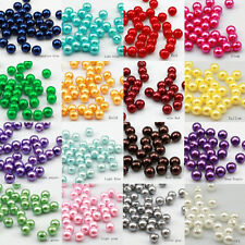 100pcs 8mm High quality Plastic pearl Round beads Jewellery Making 16 color