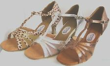 Ladies Bronze, Silver or Brown/White Ballroom, Latin, Salsa Dance Shoes -  3 - 8