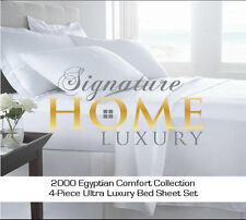 Signature Home Luxury™ 2000 Egyptian Comfort Collection Bed Sheet Set - Cream