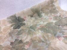 "Croscill WILDBERRY Sheer Window Scarf Leaves Valance Green 280"" or 212"" Long"