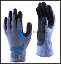 5 Pairs Showa 330 Re-Grip Gloves Latex Palm Scaffolding Roofing Safety Work PPE