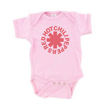 RED HOT CHILI PEPPERS Baby Pink Baby T-Shirt One Piece Romper Girl Snap Tee