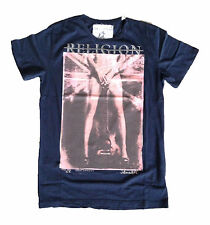 "RELIGION Clothing Herren T-Shirt Shirt ""FLAG GUITAR"" NAVY NEU UVP 60€"