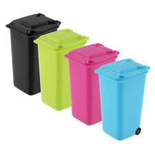 Mini Wheelie Bin Desk Tidy Office Desktop Stationery Organiser Pencil Holder HC