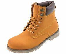 Concrete Footwear Collection Mens Tan Lace Up Workboot w/ Treaded Sole: 8030-028