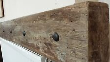Rustic Reclaimed wooden  driftwood mantle beam shelf in aged oak beeswax