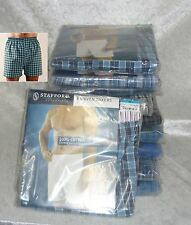 Stafford 3 woven Boxers 100% cotton men's size 30 32 34 36 38 40 44 46 48 NEW