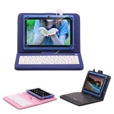 "iRULU eXpro 7"" Android 4.4 Tablet PC 8GB Quad Core 1024*600 Blue w/ Keyboard"