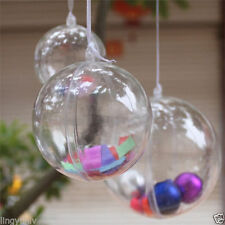 1PC Christmas Transparent 6cm 8cm 10cm Balls Trees Hanging Decoration Ornaments