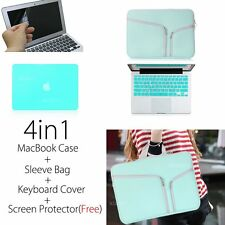 Rubberized Hard Case+Sleeve Cover bag For MacBook Air 11 13 15 pro+keyboard Skin