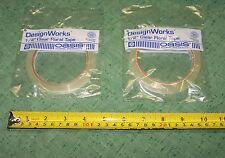 """One 60 yd Roll Clear Florist  Water Resistant Tape 1/4"""" or 1/2"""" Width Choice"""