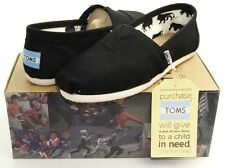 Toms Womens Classics Shoes Black Canvas Slip-On - All Sizes