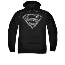 Superman Urban Camo Shield Adult Pull-Over Hoodie