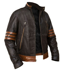 X-MEN 1 Wolverine Origins Logan Biker Real Leather Jacket - Sizes S M L XL 2XL