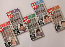 Official 1D One Direction 20x Stick On False Nails Kit - No Glue Needed - New