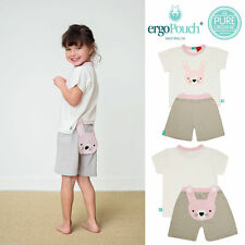ergopouch Organic Bamboo Summer Pyjamas, Bunny, 6-12m to 5 years