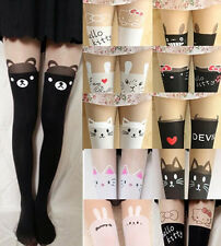 Sexy Cute Chic Mock Tattoo Half Sheer Pantyhose Tights Stockings Animals Style