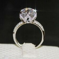 Vintage 4 CT Round Brilliant Cut Solitaire SONA Diamond Engagement Wedding Ring