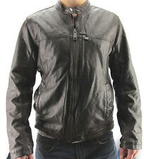 Marc New York by Andrew Marc Men's Moto Jacket Leather Like Brown Variety NWT