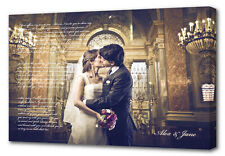 Personalised Photo with Words Vows Text Writing - Wedding - Premium Hand Made UK