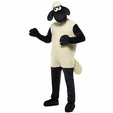 Fantastic men's Shaun the Sheep fancy dress costume dressing up outfit Licensed!