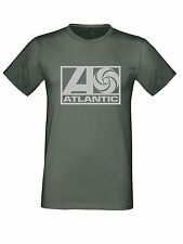 Atlantic Records Label Nothern Soul Silver Logo t shirt Motown Wigan Casino