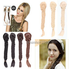 Thick Clip in Fishtail Plait Plaited Braid Ponytail Pony Tail Hair Extension 18""