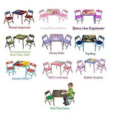 Kids Card Table Folding Chairs Children Boys Girls Patio Bedroom Kitchen Family