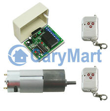 Wireless Remote Control 37mm DC 12V Motor Forward & Reverse With Speed Optional