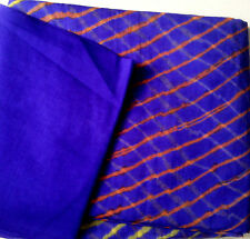 Jaipuri Laheriya saree in chiffon material with unstiched top