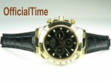 OT OfficialTime Genuine Alligator Leather Strap & AK End Link fits Rolex Daytona