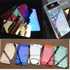 Front + Back Colored Mirror Tempered Glass Film Screen Protector For iPhone 5 5S