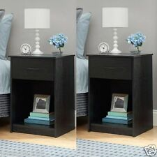 Set of 2 End Table/Nightstand Bedroom Furniture Shelf Drawers Table Multi-Colors