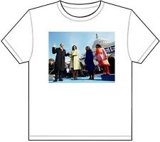BARACK OBAMA SWORN IN T-SHIRT TEE PICTURE PHOTO family oath michelle love 1896