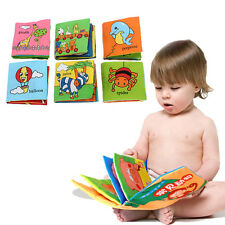 Soft Cloth Baby Kid Child Intelligence Development Learn Picture Cognize Book