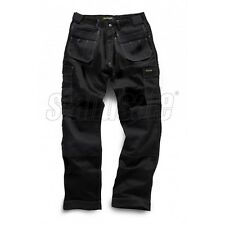 Mens Heavy Duty Combat Cargo Work Wear Trouser With Knee Pockets Triple Stitched