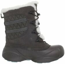 Columbia Youth Heather Canyon Winter Boots Mud/Blue Multiple Sizes (1294-255)
