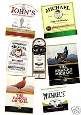 PERSONALISED WHISKEY/WHISKY LABELS FOR ALL OCCASIONS - W/ OR W/OUT PHOTO