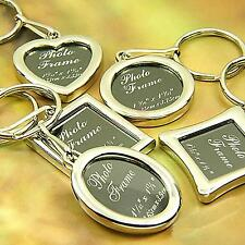 Your Memory Insert Photo Picture Frame Keyring Alloy Keychain Split Ring Charm