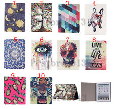 Auto Sleep Stylish Flip Fold Patterned Leather Case Printed Smart Cover For iPad