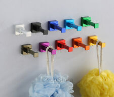Square Colorful Hooks Hangers Single Robe Hook House Wall Mounted Door Hanger