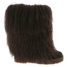 """Bearpaw BOETIS Boot Curly Lamb 11"""" Chocolate BROWN 1294W AUTHENTIC Womens NEW"""